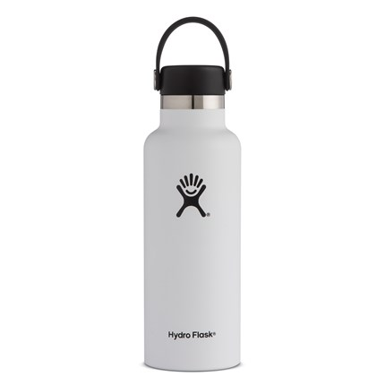 Hydro-Flask-18-oz-Standard-Mouth-White