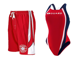 We partner with cities to get you custom logo'd lifeguard and swimming apparel, lifeguard swimsuits, and pool equipment.
